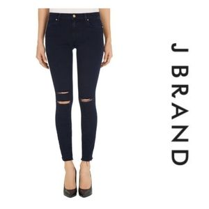 J Brand Cropped Destroyed Skinny Jeans